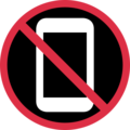 No Mobile Phones on Twitter Twemoji 11.0