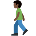 Person Walking: Dark Skin Tone on Twitter Twemoji 11.0