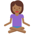Person in Lotus Position: Medium-Dark Skin Tone on Twitter Twemoji 11.0