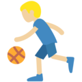 Person Bouncing Ball: Medium-Light Skin Tone on Twitter Twemoji 11.0