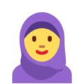 Woman With Headscarf on Twitter Twemoji 11.0