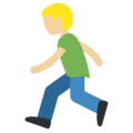 Person Running: Medium-Light Skin Tone on Twitter Twemoji 11.0