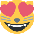 Smiling Cat Face With Heart-Eyes on Twitter Twemoji 11.0