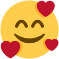 Smiling Face With 3 Hearts on Twitter Twemoji 11.0