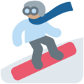 Snowboarder: Medium Skin Tone on Twitter Twemoji 11.0
