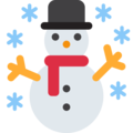 Snowman on Twitter Twemoji 11.0
