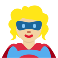 Superhero: Medium-Light Skin Tone on Twitter Twemoji 11.0