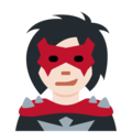 Supervillain: Light Skin Tone on Twitter Twemoji 11.0