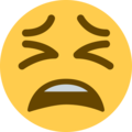 Tired Face on Twitter Twemoji 11.0