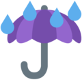 Umbrella With Rain Drops on Twitter Twemoji 11.0
