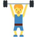 Person Lifting Weights on Twitter Twemoji 11.0