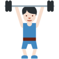 Person Lifting Weights: Light Skin Tone on Twitter Twemoji 11.0