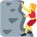 Woman Climbing on Twitter Twemoji 11.0