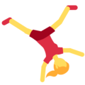 Woman Cartwheeling on Twitter Twemoji 11.0