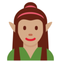 Woman Elf: Medium Skin Tone on Twitter Twemoji 11.0