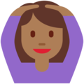 Woman Gesturing OK: Medium-Dark Skin Tone on Twitter Twemoji 11.0