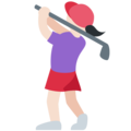 Woman Golfing: Light Skin Tone on Twitter Twemoji 11.0
