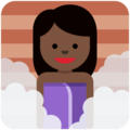Woman in Steamy Room: Dark Skin Tone on Twitter Twemoji 11.0