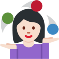 Woman Juggling: Light Skin Tone on Twitter Twemoji 11.0