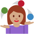 Woman Juggling: Medium Skin Tone on Twitter Twemoji 11.0