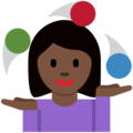 Woman Juggling: Dark Skin Tone on Twitter Twemoji 11.0