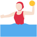 Woman Playing Water Polo: Light Skin Tone on Twitter Twemoji 11.0