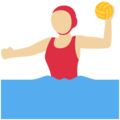 Woman Playing Water Polo: Medium-Light Skin Tone on Twitter Twemoji 11.0