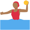 Woman Playing Water Polo: Medium-Dark Skin Tone on Twitter Twemoji 11.0