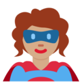 Woman Superhero: Medium Skin Tone on Twitter Twemoji 11.0