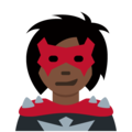 Woman Supervillain: Dark Skin Tone on Twitter Twemoji 11.0