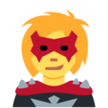 Woman Supervillain on Twitter Twemoji 11.0