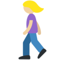 Woman Walking: Medium-Light Skin Tone on Twitter Twemoji 11.0