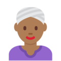 Woman Wearing Turban: Medium-Dark Skin Tone on Twitter Twemoji 11.0