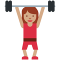 Woman Lifting Weights: Medium Skin Tone on Twitter Twemoji 11.0