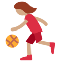 Woman Bouncing Ball: Medium Skin Tone on Twitter Twemoji 11.0