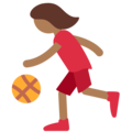 Woman Bouncing Ball: Medium-Dark Skin Tone on Twitter Twemoji 11.0