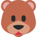 Bear Face on Twitter Twemoji 11.1