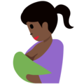Breast-Feeding: Dark Skin Tone on Twitter Twemoji 11.1