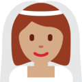 Bride With Veil: Medium Skin Tone on Twitter Twemoji 11.1
