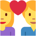 Couple With Heart: Woman, Man on Twitter Twemoji 11.1
