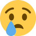 Crying Face on Twitter Twemoji 11.1