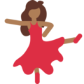 Woman Dancing: Medium-Dark Skin Tone on Twitter Twemoji 11.1