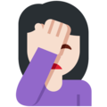 Person Facepalming: Light Skin Tone on Twitter Twemoji 11.1