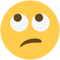 Face With Rolling Eyes on Twitter Twemoji 11.1