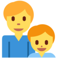 Family: Man, Boy on Twitter Twemoji 11.1