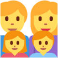 Family: Man, Woman, Girl, Boy on Twitter Twemoji 11.1