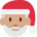 Santa Claus: Medium Skin Tone on Twitter Twemoji 11.1