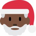 Santa Claus: Dark Skin Tone on Twitter Twemoji 11.1
