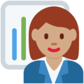 Woman Office Worker: Medium Skin Tone on Twitter Twemoji 11.1