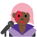 Woman Singer: Dark Skin Tone on Twitter Twemoji 11.1